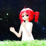 星と花と悲しげな少女