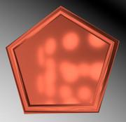 銅の五角形コースター