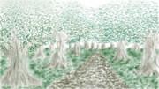 【二色絵】森の小道