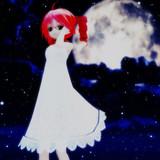 月夜に照らされる少女