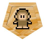 ドット猿の五角形コースター