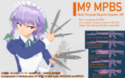 M9銃剣 MMDモデル配布告知