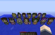 【minecraft】765プロのアイドル+事務員ドット絵