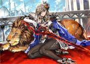 獅子と剣士