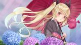 姫様と紫陽花