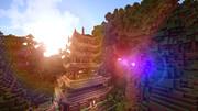 【Minecraft】滝と五重塔【英語を勉強できる街 つくりませんか?】