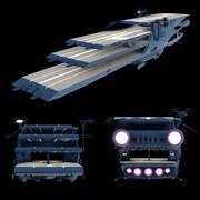 ガイペロン級多層式航宙母艦。