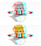 【赤青3Dメガネ必須】飛び出せ魔理沙!!