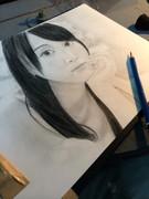 松井玲奈(SKE)さんを描いてみた。鉛筆画