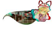 【赤青3Dメガネ必須】紫『幻想郷へのスキマ開けておきましたわ』