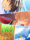 リク「西瓜を食す萃香と打ち水中の旦那」より