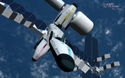「未来」宇宙ステーション (ドッキング)
