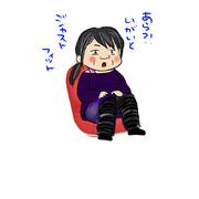 小さな座椅子と私