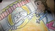 オリジナル紙芝居『ブタ二エールと3匹のこぶた』イラスト1