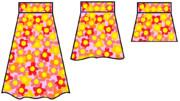 みゆき・三つの花柄スカート