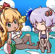ゆかり&マキの日常(海水浴)