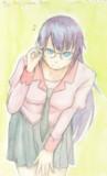 ひたぎさんに羽川さんの眼鏡をかけてもらったよ