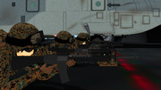 甲板上での射撃訓練