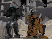 廃墟地での戦闘