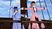 船上でダンス
