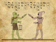 古代神聖文字で記されたクトゥルフの真実