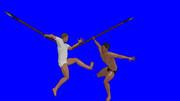 袋槍で死闘を繰り広げる鈴木とMUR
