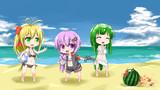 夏だ!海だ!スイカ割りだ!