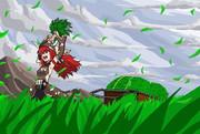 風、二人、草原にて ~ドットver~