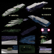 【モデル配布】ガイペロン級多層式航宙母艦。