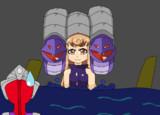 ティガ51話のあの怪獣を擬人化した怪獣に差し替えた