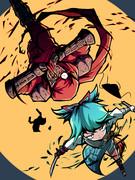 赤と青の復讐者