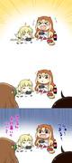 だらだらゲームがたのしいうまるちゃんと杏ちゃん描きました