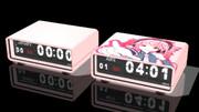ぱたぱたする時計