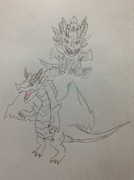 ホワイトドレイクと超キングメタルドラゴン