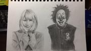 sekainoowari(セカオワ)のsaoriさんとDJLOVEさんを同時に描いてみた。
