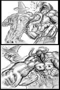 牛ヲリ vs 雷皿♂