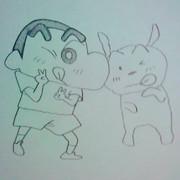 しんちゃん&シロ