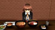 【MMD艦これ】千代田の昼食