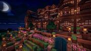 【Minecraft】夜のお屋敷【英語を勉強できる街 つくりませんか?】