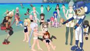 鎮守府幼稚園の海水浴