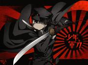少年と軍刀