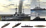 MMD用モブ弩級戦艦1910セット