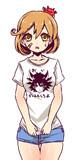 蟹さんTシャツだ。どうだ朧