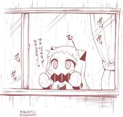 連日の雨。