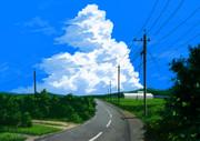 入道雲の景色