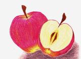 落書き 林檎