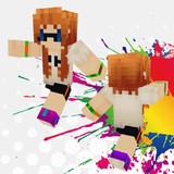【Minecraft】インクリングガールスキン【Splatoon(スプラトゥーン)】