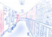 【二色絵】都会な1コマ