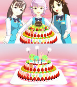 【MMD】バースデーケーキ【親登録は動画へ】