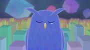 夜の青いミミズク